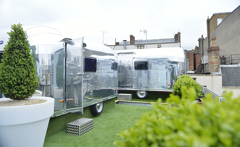 Rooftop glamping accommodation in Bristol at Brooks Guesthouse