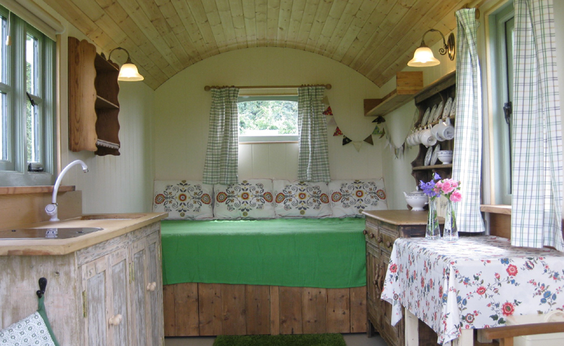 Walnut tree Shepherd's hut