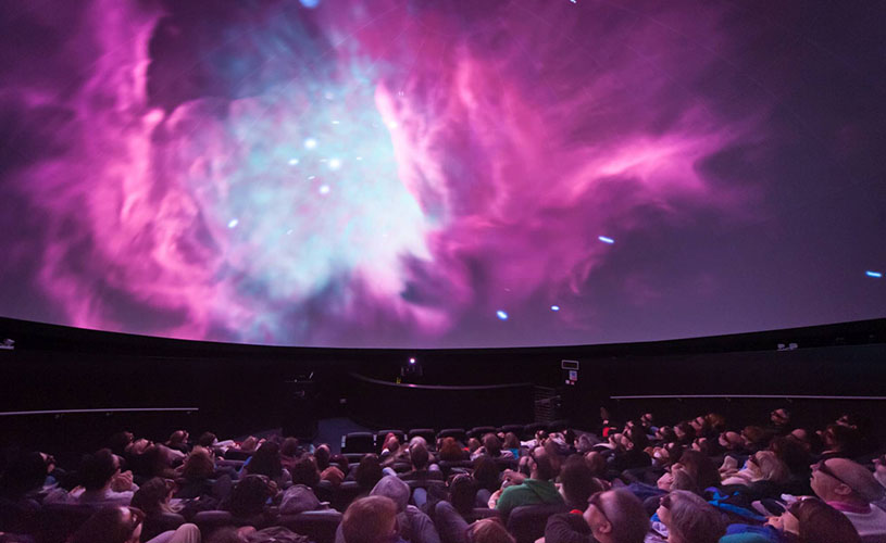 People inside We The Curious' 3D Planetarium