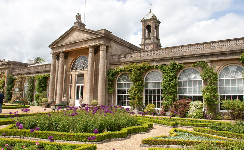 Exterior and gardens of Bowood House