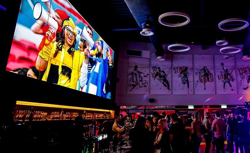 Big screen at Ashton Gates Sports Bar
