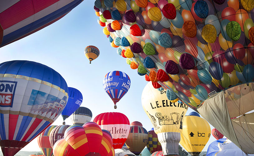 Hot air balloons over Bristol - A-Z of Bristol