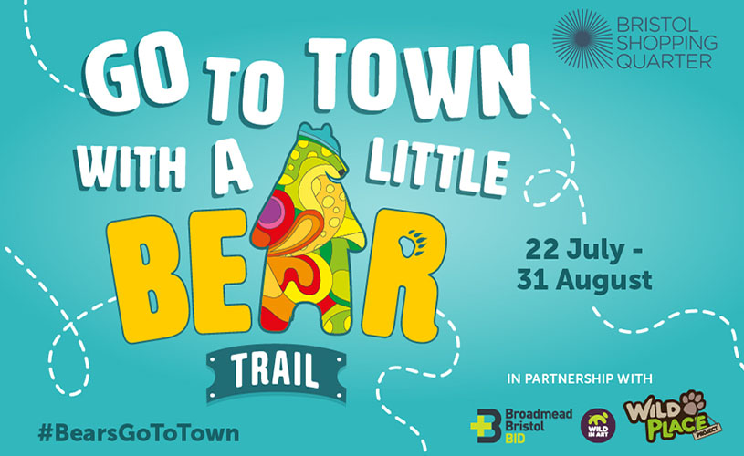 Promo poster for Bears Go To Town Trail in Bristol Shopping Quarter