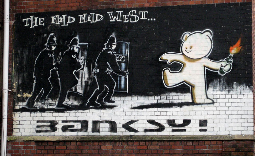 Banksy-Mild-Mild-West - 119 things to do in Bristol in 2019