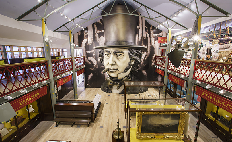 Inside the Being Brunel museum at SS Great Britain, Bristol