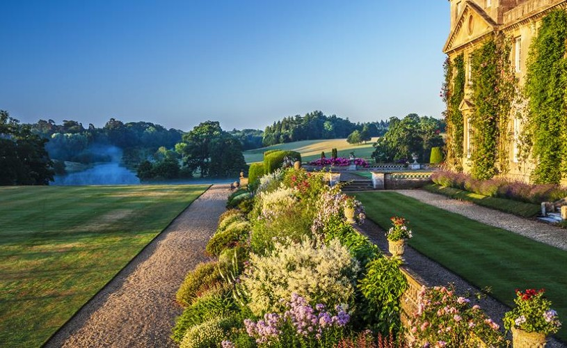 Flower bed and grounds at Bowood Hotel