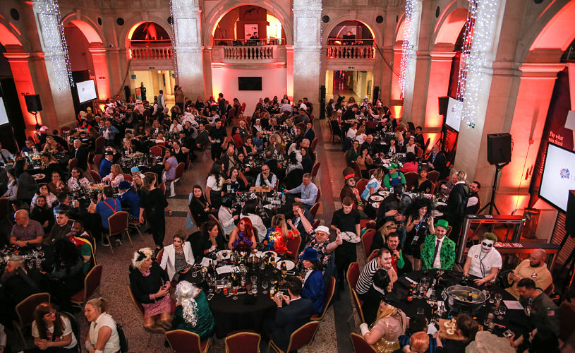 a corporate dinner event at Bristol Museum and Art Gallery