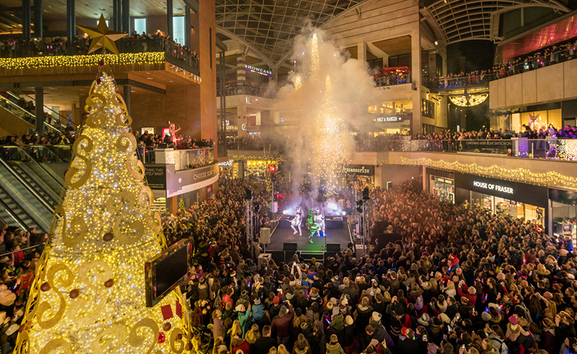 Things to do in Bristol in November 2018 - Christmas light switch on Cabot