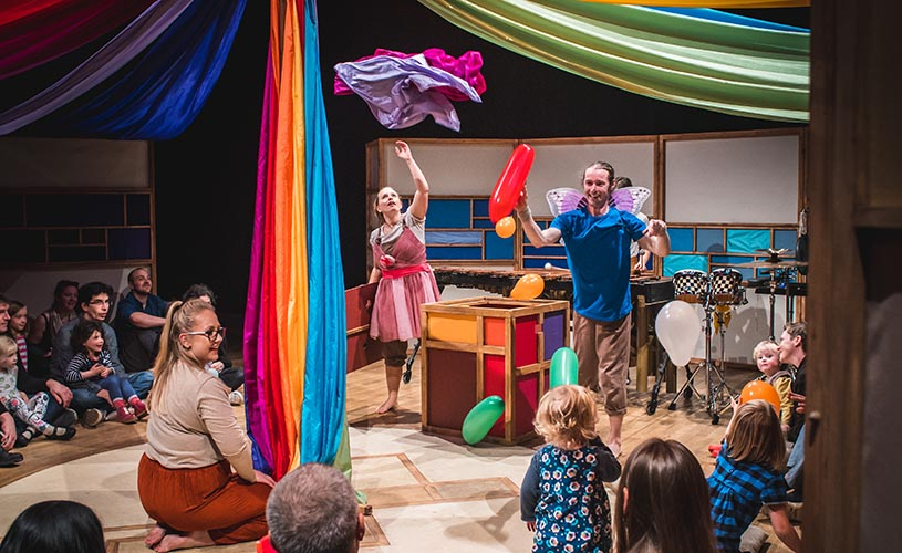 Family-friendly performance at Circus City