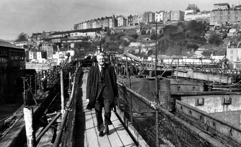 Cary Grant in Bristol Harbour (c) Bristol Post:  7 Facts you never knew about Cary Grant's Bristol connections