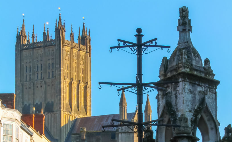 Cathedral from Wells Market Place