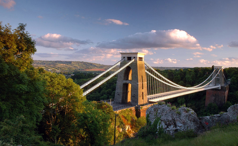 Clifton Suspension Bridge and balloons