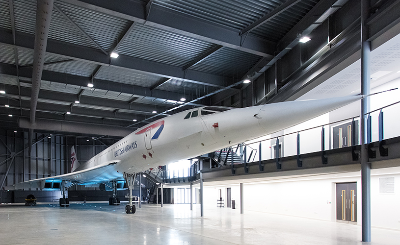 The last Concorde to fly on display at Aerospace Bristol