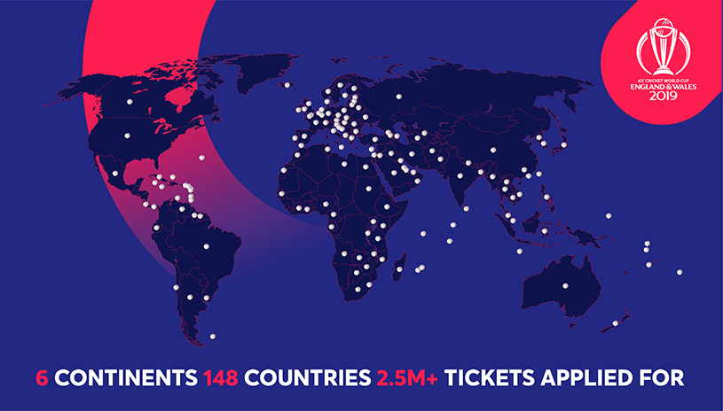 Over 2 5 Million Ticket Applications Received For Icc