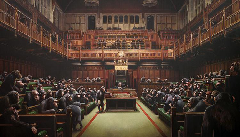 Devolved Parliament by Banksy_ Credit Bristol Museum & Art Gallery