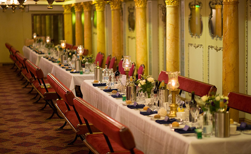 First Class Dining Saloon event space on Brunel's SS Great Britain