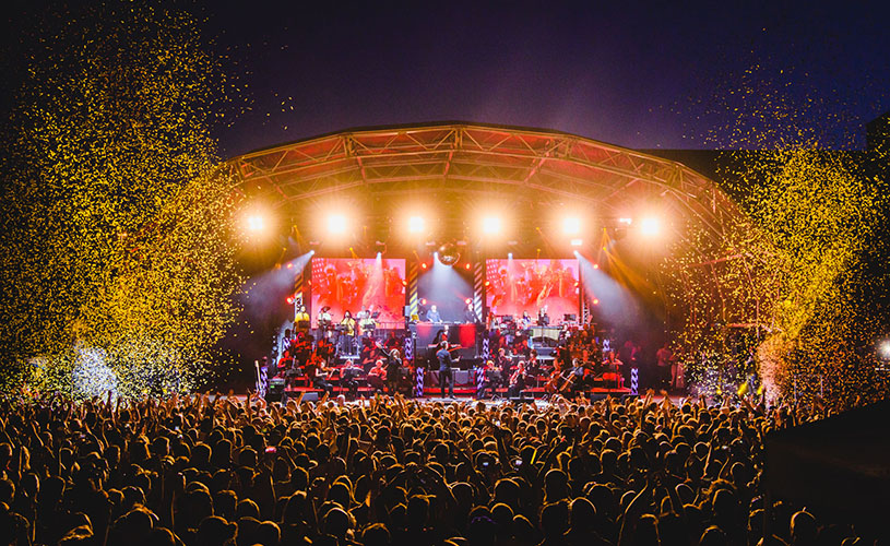 Image from an outdoors Hacienda Classical concert taken by Anthony Mooney