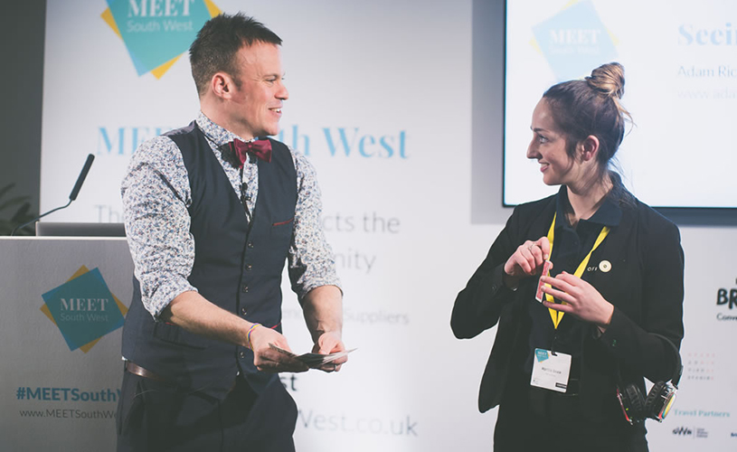 Adam Richards Magic performing at MEET South West