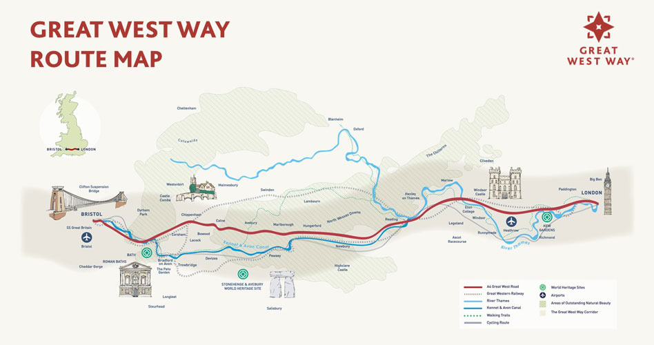 Great West Way Map