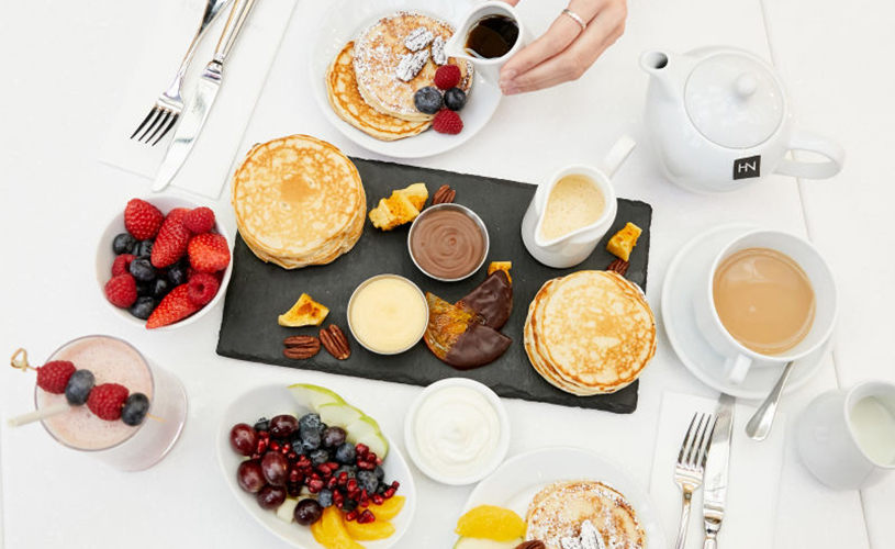 Pancake Day selection at Harvey Nichols Second Floor Restaurant