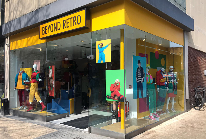 Beyond Retro storefront in Broadmead, Bristol
