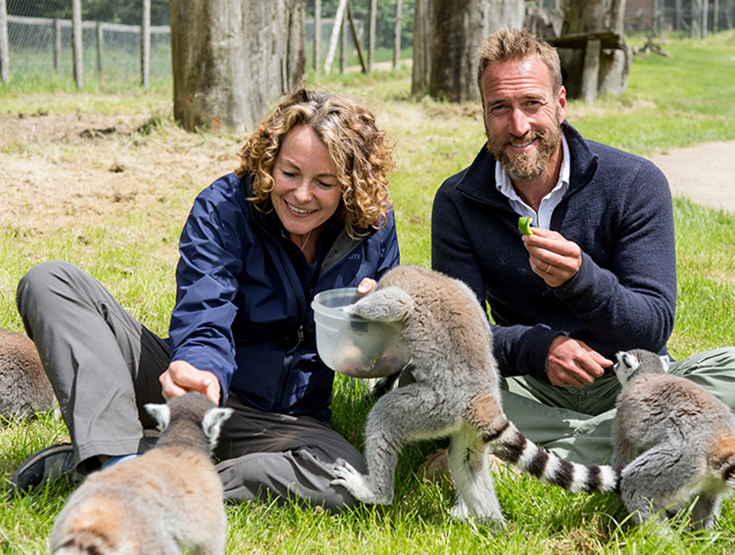 Longleat - Animal Park presenters Kate Humble and Ben Fogle