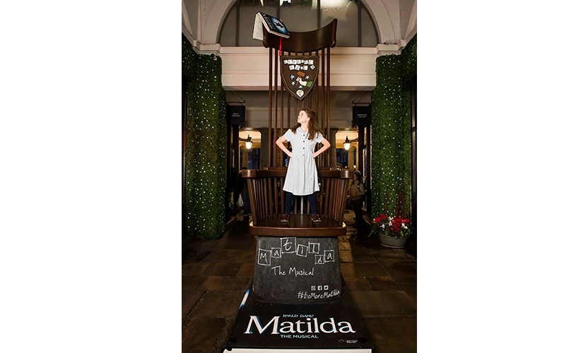 Miss Trunchbull's famous chair to be installed in Bristol as The Royal Shakespeare company's Matilda the Musical announces extra matinee date at The Bristol Hippodrome