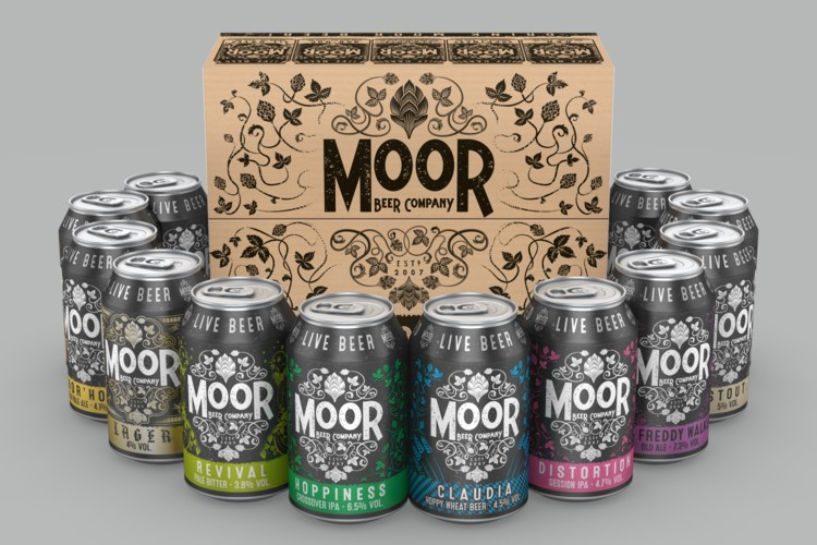 Selection of canned live beers by Moor Beer Co
