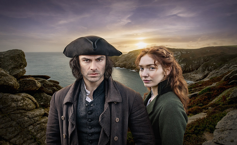 Aidan Turner & Eleanor Tomlinson in Poldark (Credit BBC Mammoth Screen)