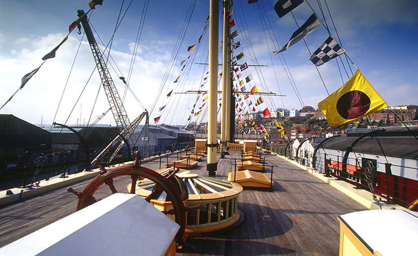 Top deck of Brunel's SS Great Britain