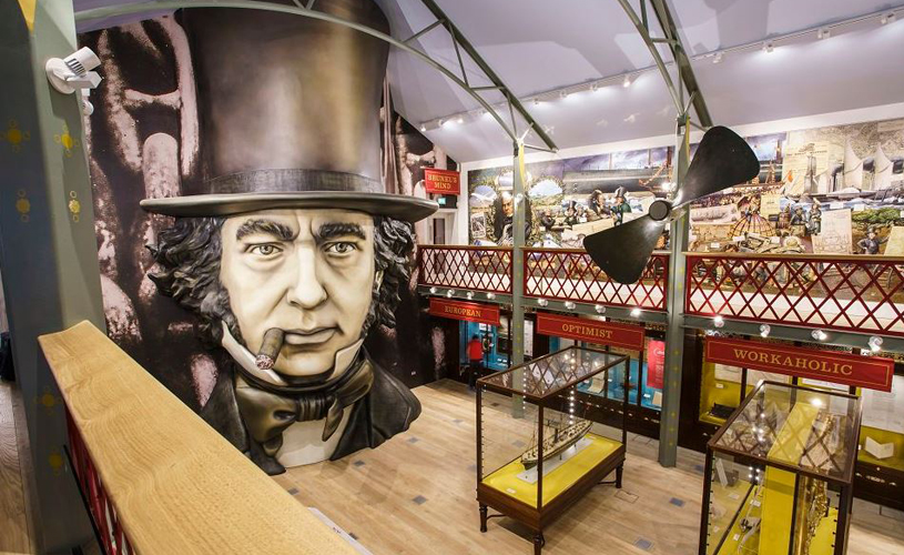 Inside the Being Brunel museum at the SS Great Britain