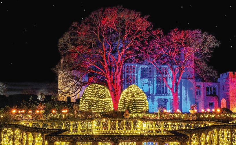 Spectacle of Light at Sudeley Castle Twixmas activities Bristol