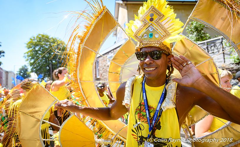St Pauls Carnival procession performer