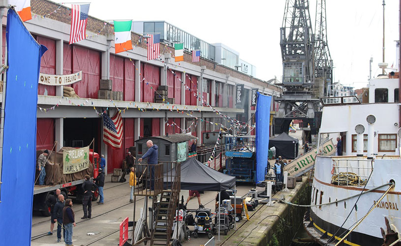 Stan & Ollie filming on Princes Wharf - A-Z of Bristol