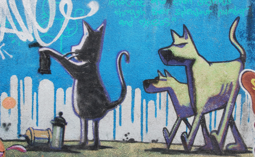 Banksy's Cat and Dog