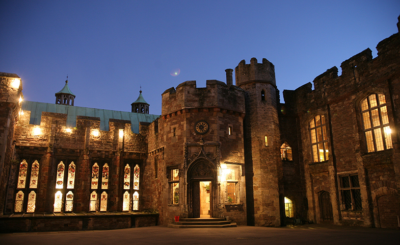 Berkeley Castle at night