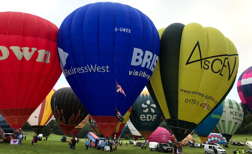 The Bristol Blue Balloon getting ready to ascend