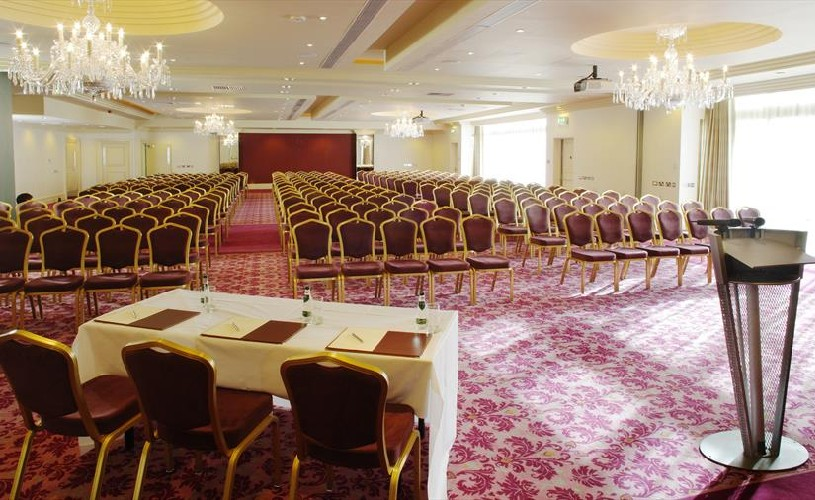Event space set up conference style at The Bristol Hotel