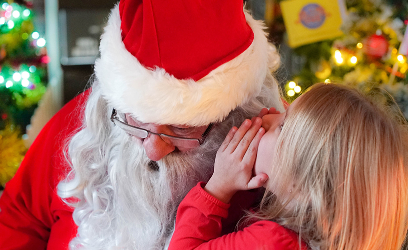 Meeting Santa at The Grand Pier, Weston-super-Mare