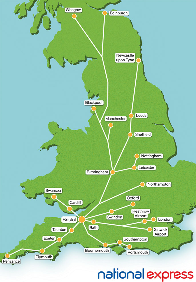 National Express Map