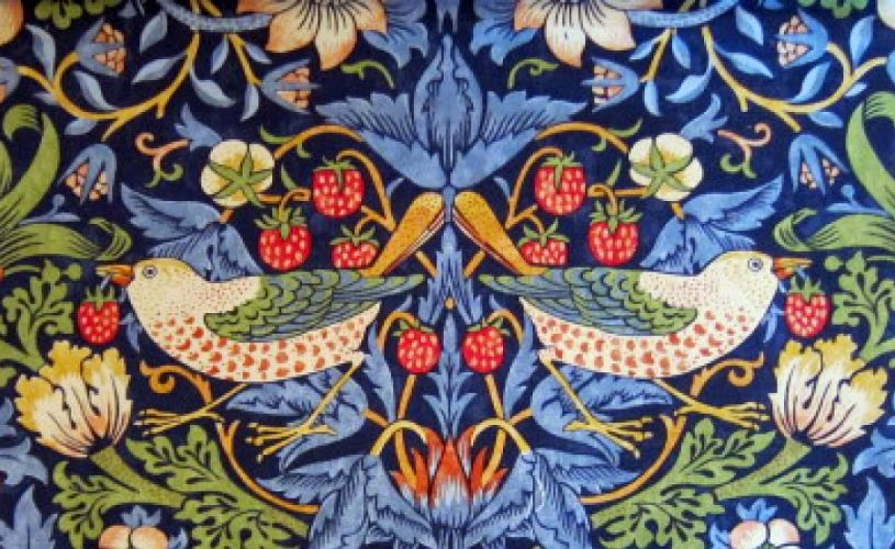 William Morris Strawberry Thief patter wallpaper that adorns the walls of the bar in Bristol