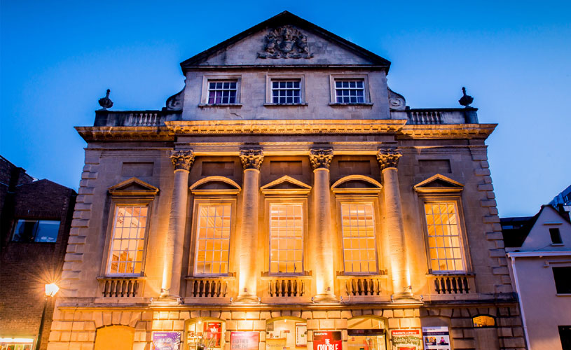 Front of Bristol Old Vic at night