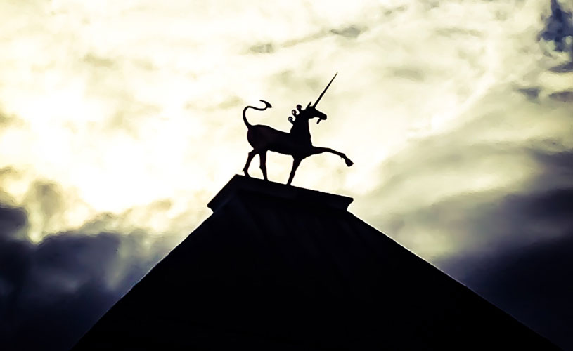 Silhouette of unicorn, Bristol