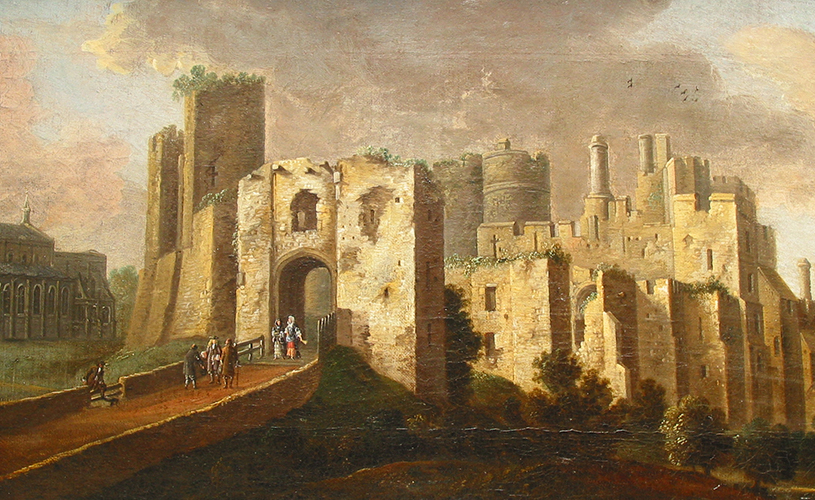 Old painting of Berkeley Castle