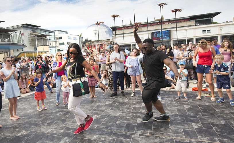 Dancing at Bristol Harbour Festival