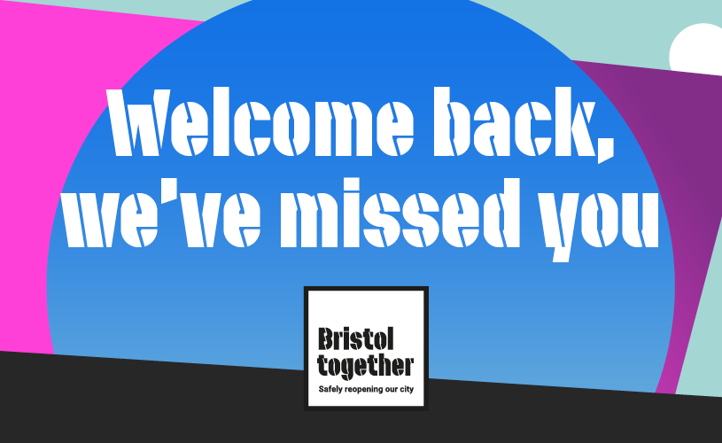 Welcome back we've missed you message