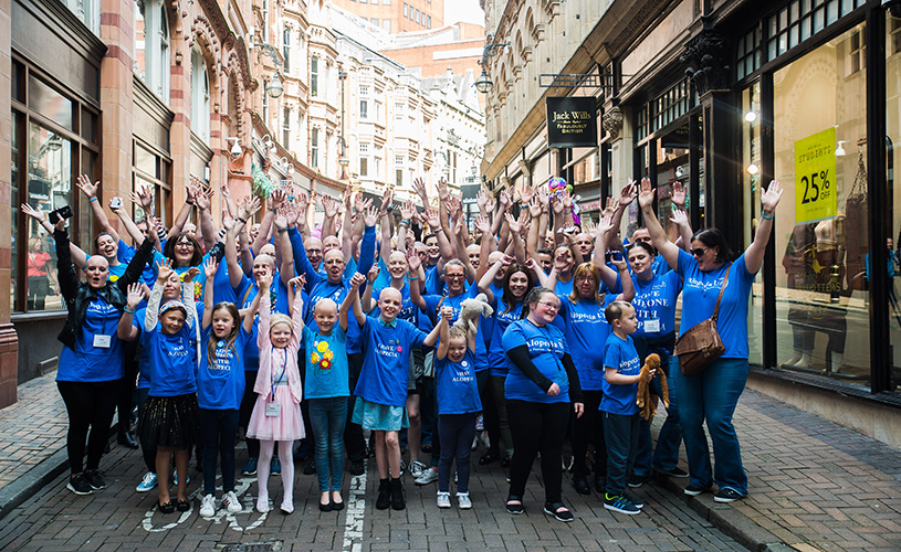 Alopecia UK cheering crowd in Bristol
