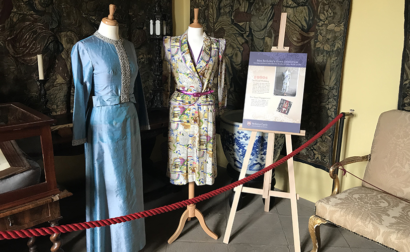 Mrs Berkeley's dresses in the Berkeley Castle Uncovered exhibition