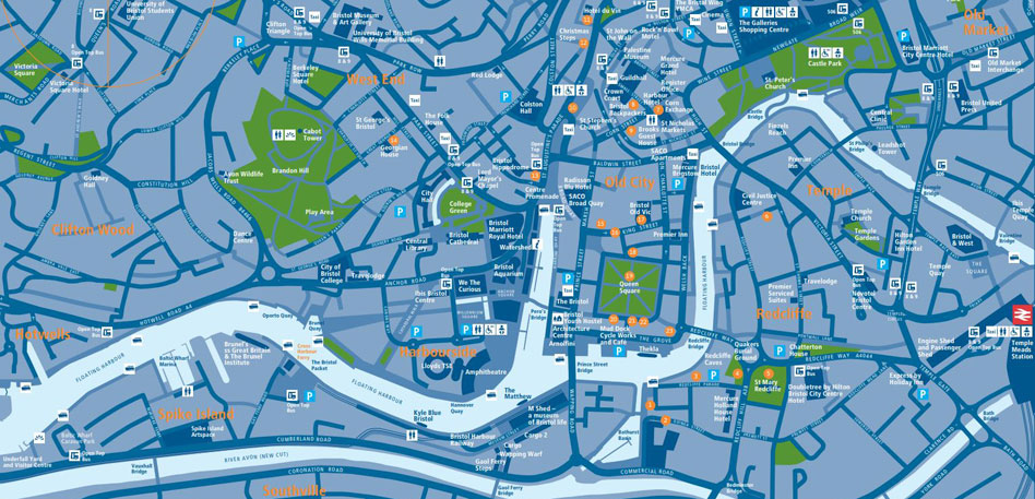 Map of Bristol - VisitBristol.co.uk