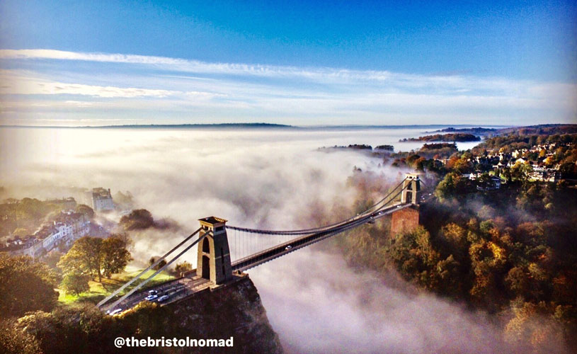 Bristol Nomad Clifton Suspension Bridge aerial shot